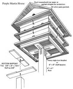 Purple Martin Bird House Plans Tree House