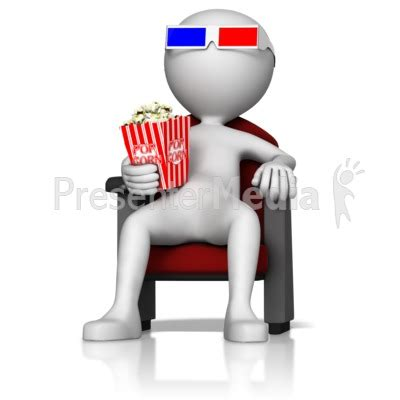 Figure At 3d Movie Presentation Clipart Great Clipart For Presentations Www Presentermedia Com Presentation Media Free
