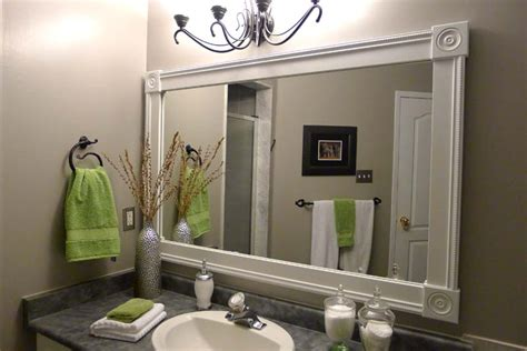 white vanity mirror diy bathroom mirror frame ideas