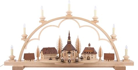 candle arch seiffen village natural wood 80 215 15 215 43 cm 31