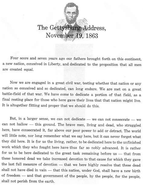 gettysburg speech lincoln the gettysburg address from president abraham lincoln