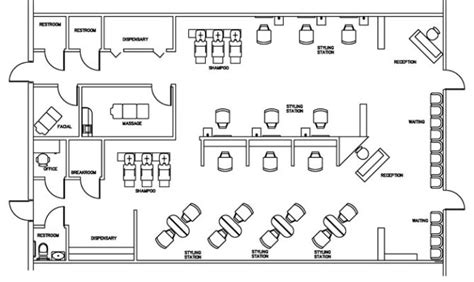 hair salon layout cad beauty salon floor plan design layout square foot house