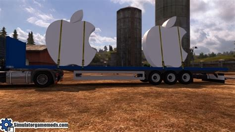 apple trailer ets 2 apple transport trailer v1 2 simulator games
