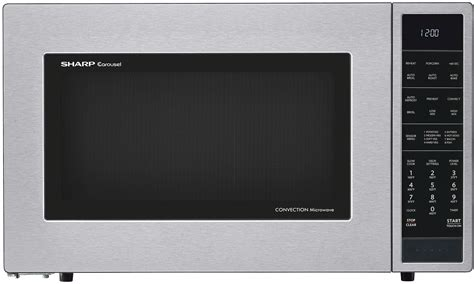 Microwave Sharp Second Sharp Smc1585bs 1 5 Cu Ft Countertop Microwave Oven With 900 Cooking Watts Convection Cooking