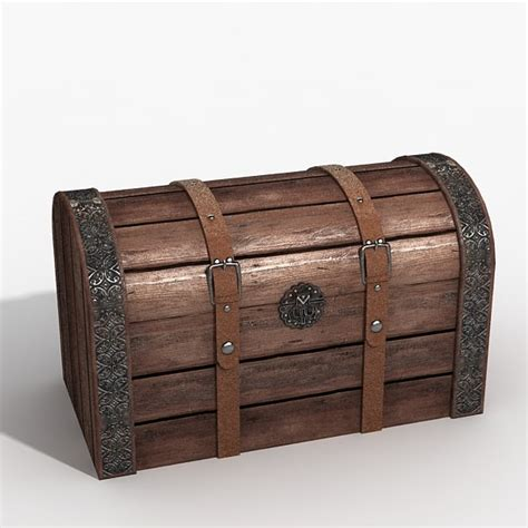 Max And Treasure Box by Wooden Chest 3d Max