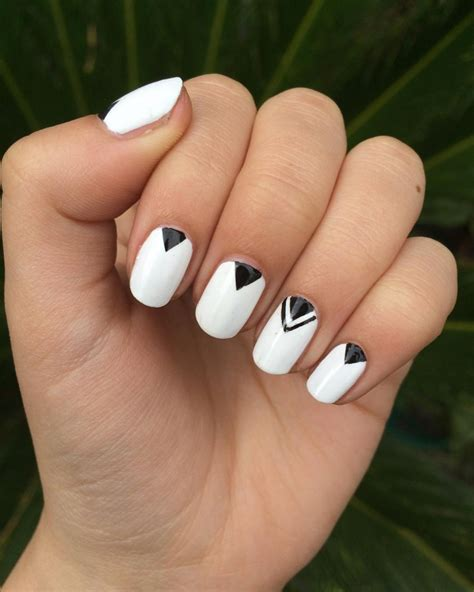 geometric pattern nails 21 triangle nail art designs ideas design trends