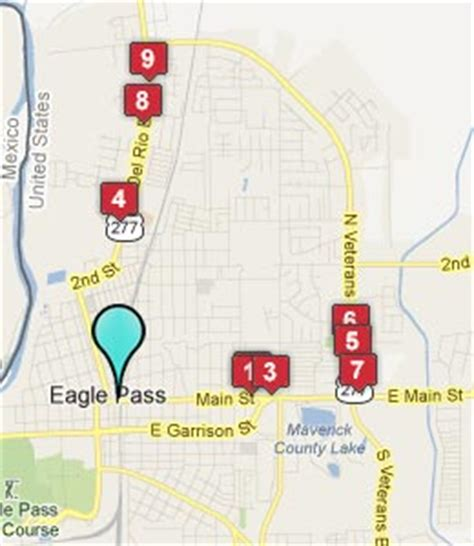 map of eagle pass texas eagle pass tx hotels motels see all discounts