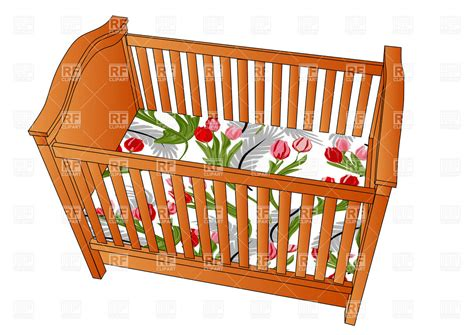 Baby Crib Clipart Crib Top View Objects Royalty Free Vector Clip Eps