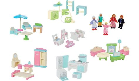 wooden dolls house furniture sets george home large dolls house furniture set bundle kids george at asda