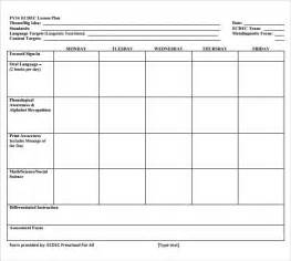 easy lesson plan template word sle simple lesson plan template 11 documents