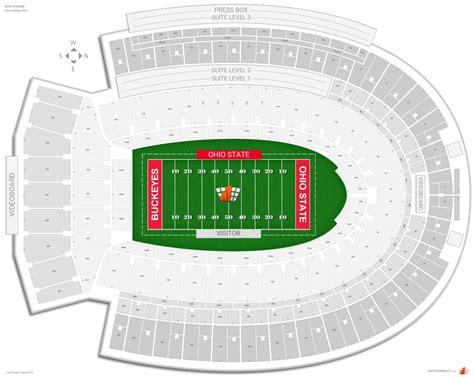 ohio state stadium seating chart ohio stadium ohio state seating guide rateyourseats
