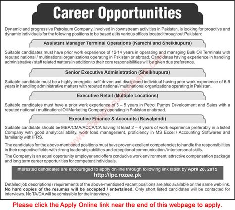 Executive Mba In And Gas by And Gas In Pakistan April 2015 Admin Sales