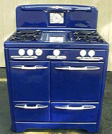 Cobalt Blue O'Keefe & Merritt Antique Gas Stove