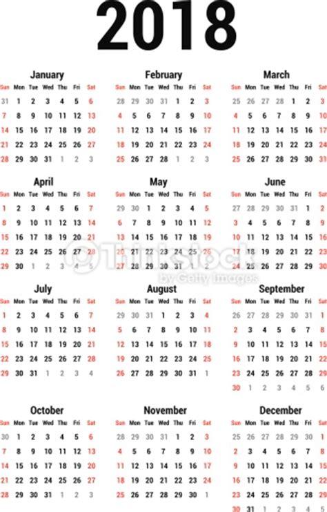 Calendã Brasileiro 2018 Calendar 2018 Vector Thinkstock