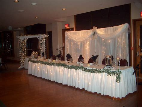 decorating the head table at a wedding reception ehow mikayla s blog fall dance canopy decorated and lighted