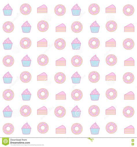pastel donut pattern sweet pastel cupcake seamless pattern stock vector image