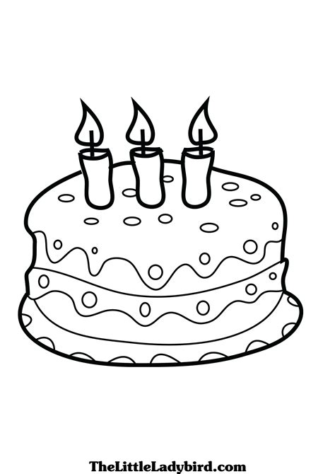 coloring page birthday cake no candles birthday cake no candles coloring page bltidm