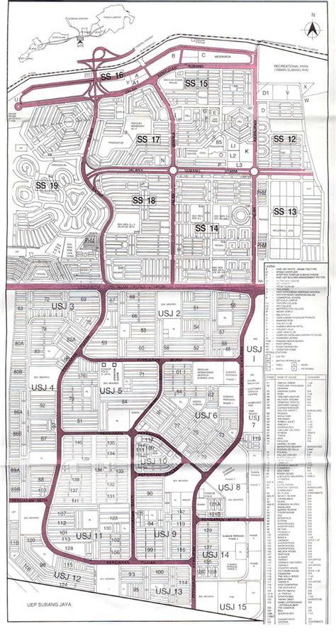 map usj subang jaya usj subang jaya e community map of subang jaya