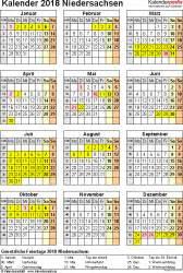 Kalender 2018 Niedersachsen Zum Ausdrucken Kalender 2018 Niedersachsen Ferien Feiertage Pdf Vorlagen