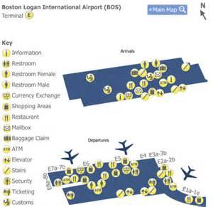 Boston Terminal Map by Boston Logan Airport Bos Terminal A Map Map Of