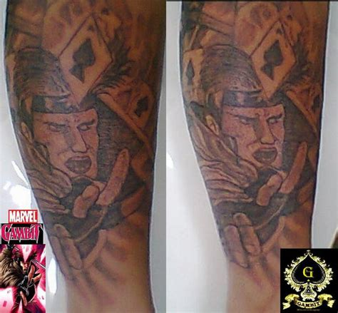 gambit tattoo gambit by inkwork27 on deviantart