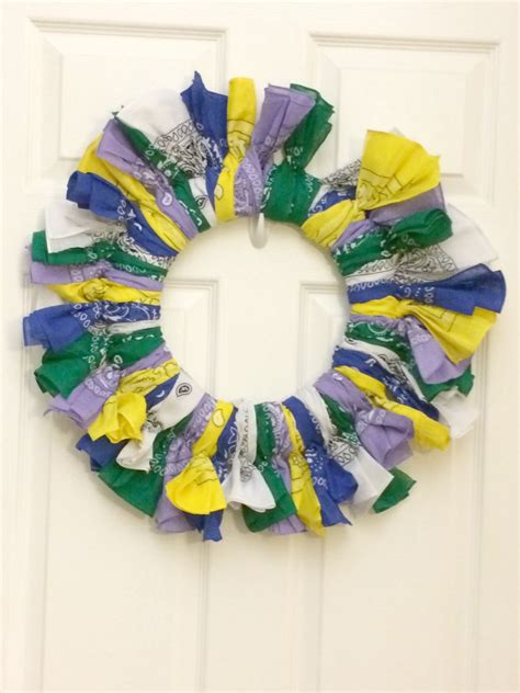 colorful bandana summer wreath momhomeguide com