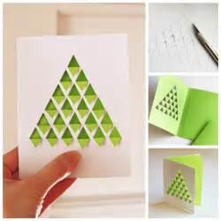 creative ideas diy geometric christmas tree card