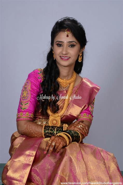 hairstyles for party in kerala traditional southern indian bride asha wears bridal silk