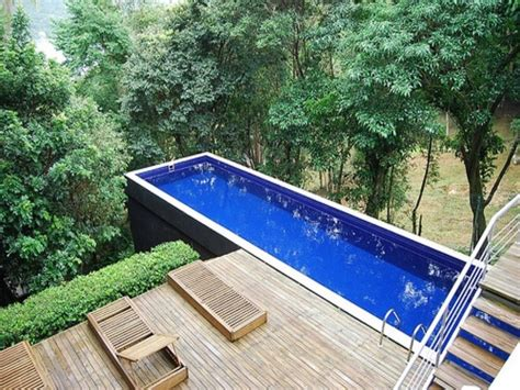 backyard lap pool above ground lap pool decofurnish