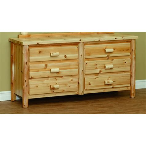 Cedar Dresser by White Cedar 6 Drawer Dresser Countryside