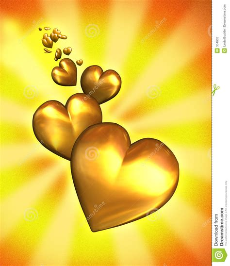 imagenes de corazones oro corazones de oro con el camino de recortes fotograf 237 a de