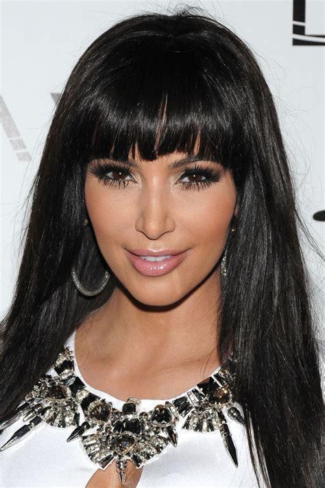 hairstyles for ugly bangs kim kardashian beauty looks best hairstyle ideas cinefog