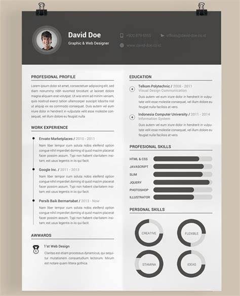 creative curriculum vitae template free download for free this creative printable resume templates