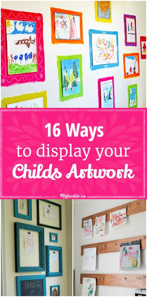 ways to display artwork 16 ways to display your childs artwork easy tip junkie