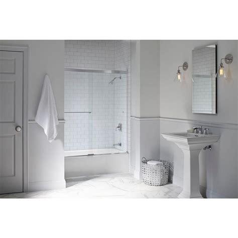 8 x 5 sliding doors kohler revel 59 5 8 in x 55 1 2 in frameless sliding tub