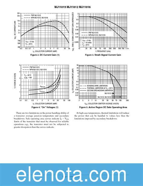 transistor mj11015 transistor mj11015 datasheet 28 images mj11015 30 a 120 v pnp darlington bipolar power