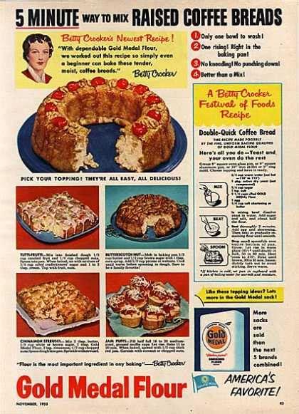 1950 s food vintage food advertisements of the 1950s