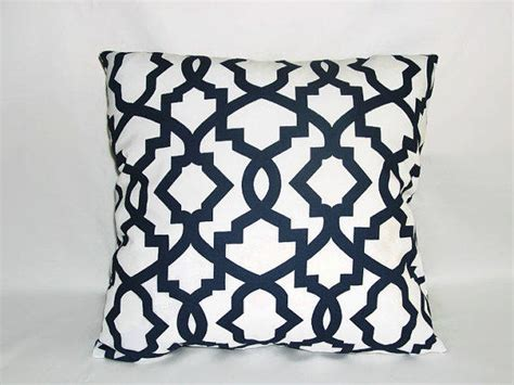 decorative pillows navy blue and white from