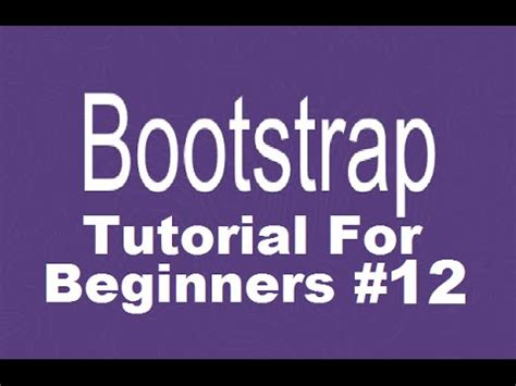 bootstrap js tutorial youtube bootstrap tutorial for beginners 12 adding carousel
