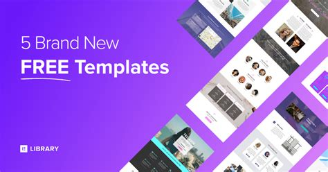 5 Brand New Free Elementor Homepage Templates Elementor Template Library