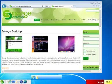 themes for emerge desktop windows desktop shell replacements for the eldery bt