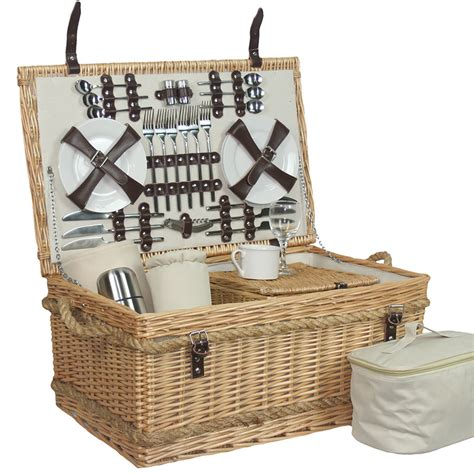 6 person picnic basket handle picnic hers uk