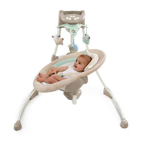 baby swing ingenuity com ingenuity inlighten cradling swing lullaby