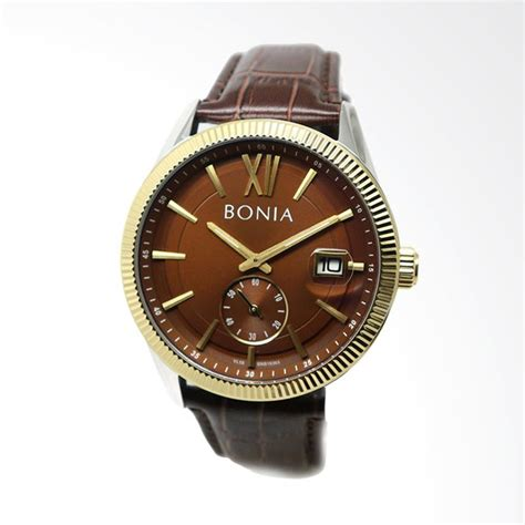 Jam Tangan Pria Mewah Bonia Tesoro jual bonia jam tangan pria bnb10365 1343 harga kualitas terjamin blibli