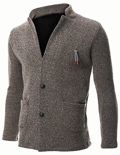 Jaket Sweater Parka 2pocket flatseven mens knit jacket sweater cardigan 2 button stand collar with pocket c401 beige m