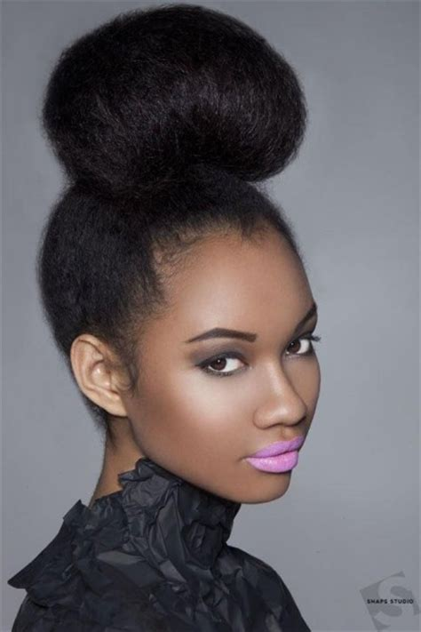 pics of black women pretty big hair buns with added hair the natural bun herhairpin