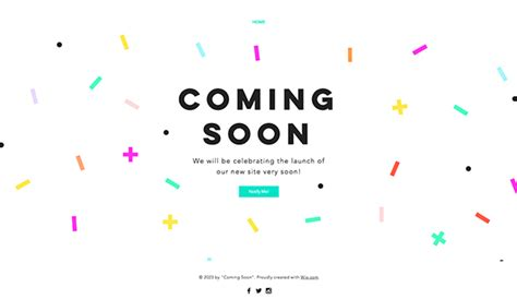 Coming Soon Email Template landing pages website templates wix