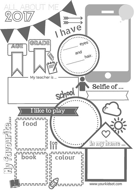 Functional Kitchen Ideas by 2017 All About Me And All About My Class Free Printables