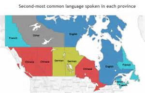 canada speaking map what are the most popular languages in your province