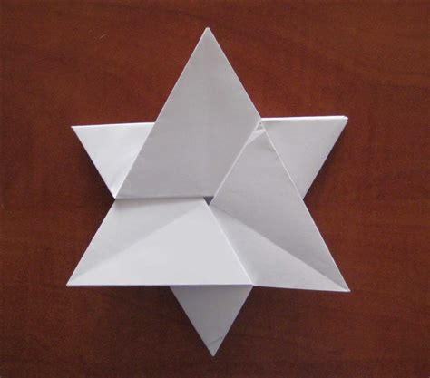 how to fold a 6 pointed from an a4 paper without